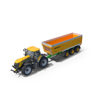 Tractor JCB Fastrac 8310 and Trailer Joskin Trans-Space 8000 PNG & PSD Images
