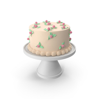 Cake with Roses PNG & PSD Images