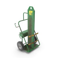 Dual Cylinder Gas Welding Cart Old PNG & PSD Images