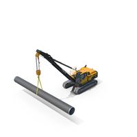 Volvo PL3005D Pipelayer PNG & PSD Images