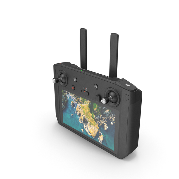 Quadcopter Remote Controller with Display PNG & PSD Images