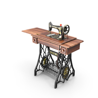 1907's Singer Sewing Machine PNG & PSD Images