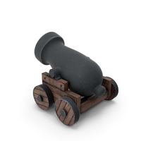 Cartoon Old Pirate's Cannon PNG & PSD Images