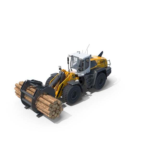 Liebherr L580 XPower with Log Grapple PNG & PSD Images