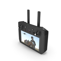 DJI Smart Controller with Screen PNG & PSD Images