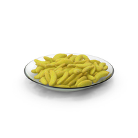 Plate with Gummy Bananas PNG & PSD Images