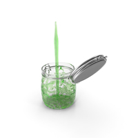 Green Water Pours Into the Jar PNG & PSD Images