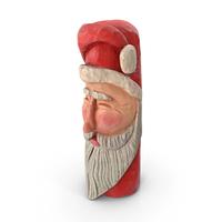 Carved Wooden Santa Ornament PNG & PSD Images
