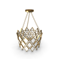 Robert Abbey Edward Pendant in Modern Brass Finish with Marble Accents 423 PNG & PSD Images