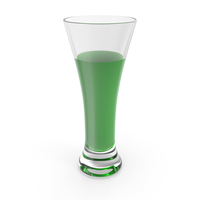 Glass with Green Water PNG & PSD Images