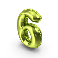 Balloons Number 6 PNG & PSD Images