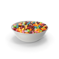 Bowl with Jelly beans PNG & PSD Images