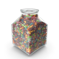 Square Jar with Jelly beans PNG & PSD Images