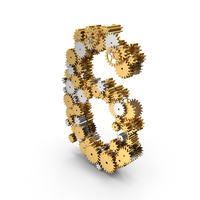 Gear Number 6 PNG & PSD Images