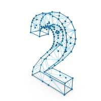 Wire Alphabet Number 2 PNG & PSD Images