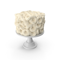 White Flower Wedding Cake with Pearls PNG & PSD Images