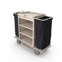 Housekeeping Cart Used PNG & PSD Images