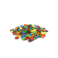 Pile of Colored Chocolate Buttons PNG & PSD Images