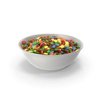 Bowl with Colored Chocolate Buttons PNG & PSD Images