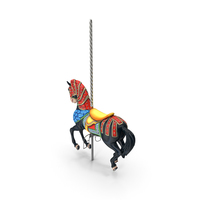 Carousel Horse Black PNG & PSD Images