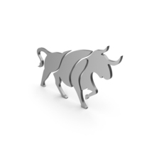 Bull Figure Metal PNG & PSD Images