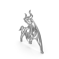 Bull Big Figure Silver PNG & PSD Images