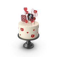 Social Media Birthday Cake PNG & PSD Images