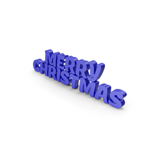 Merry Christmas Blue PNG & PSD Images