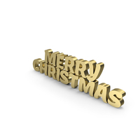 Merry Christmas Gold PNG & PSD Images