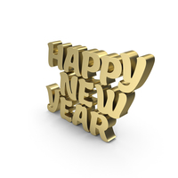 Happy New Year Gold PNG & PSD Images