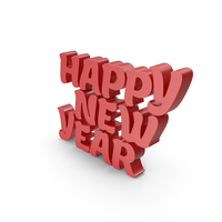 Happy New Year Red PNG & PSD Images