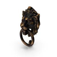 Antique Brass Lion Door Knocker PNG & PSD Images
