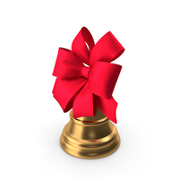 Christmas Bell with Large Red Bow PNG & PSD Images