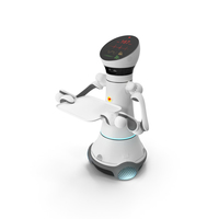 Careobot 4 with Medical Tray PNG & PSD Images