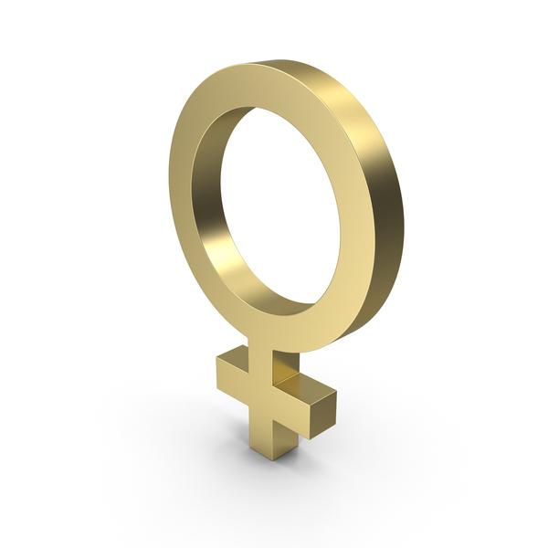 Female Gender Symbol Gold PNG & PSD Images