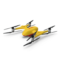 DHL Quadcopter Drone PNG & PSD Images