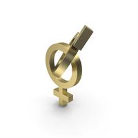 Feminine Male Beginning Symbol Gold PNG & PSD Images