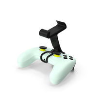 Google Stadia Controller with Phone Mount Wasabi Color PNG & PSD Images