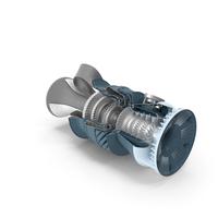 Jet Turboshaft Engine Slice PNG & PSD Images