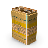 Olive Oil 2 Litre Tin Can PNG & PSD Images