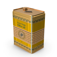 Olive Oil Tin Can 10L PNG & PSD Images