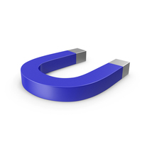 Horseshoe Magnet Blue PNG & PSD Images