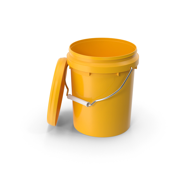 Plastic Bucket 5L with Lid and Handle PNG & PSD Images