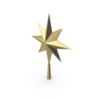 Christmas Star Golden PNG & PSD Images