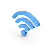 Wi-Fi Symbol Blue PNG & PSD Images
