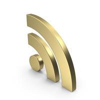 RSS Symbol Gold PNG & PSD Images