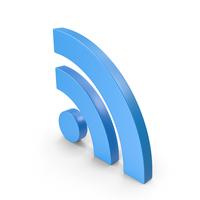 RSS Symbol Blue PNG & PSD Images