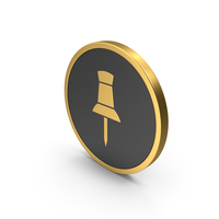 Gold Icon Push Pin PNG & PSD Images