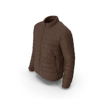Mens Down Jacket Brown PNG & PSD Images