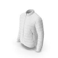Mens Down Jacket White PNG & PSD Images